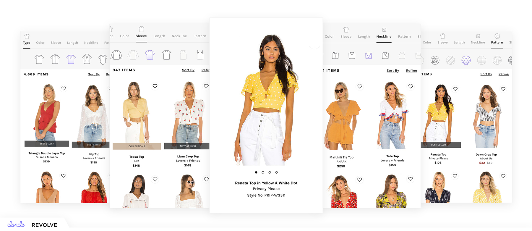 Donde visual search navigation