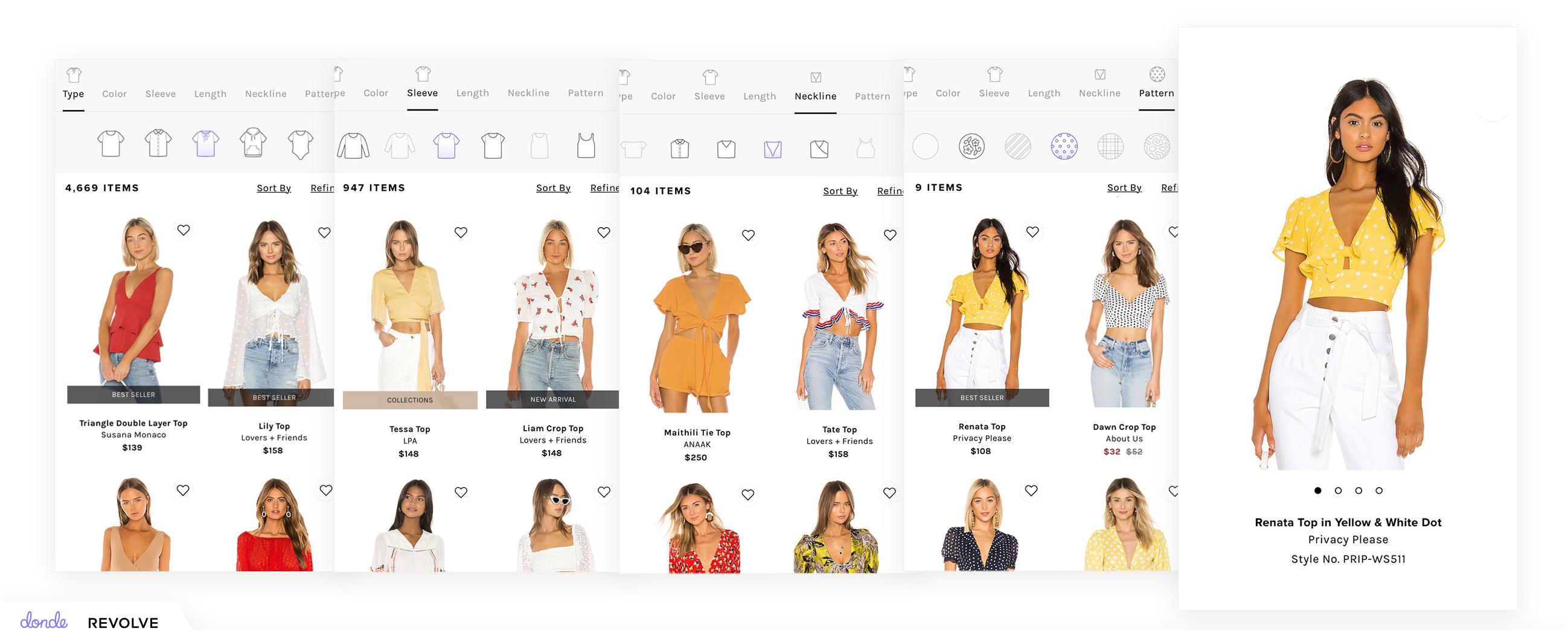 REVOLVE search using Visual Search Navigation